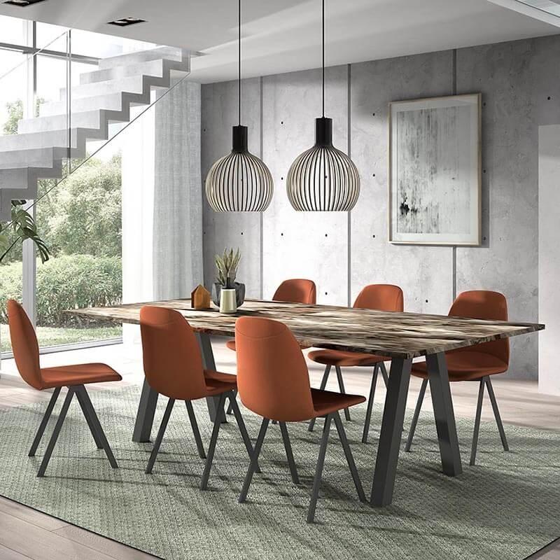 chaise de salle a manger moderne en tissu ona