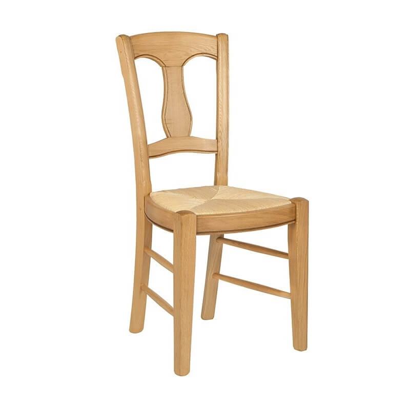 chaise rustique en paille de seigle et chene massif fabrication francaise 260 263 265