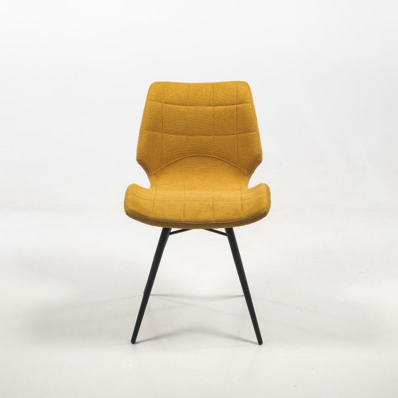 chaise design vintage rembourree en tissu iberis