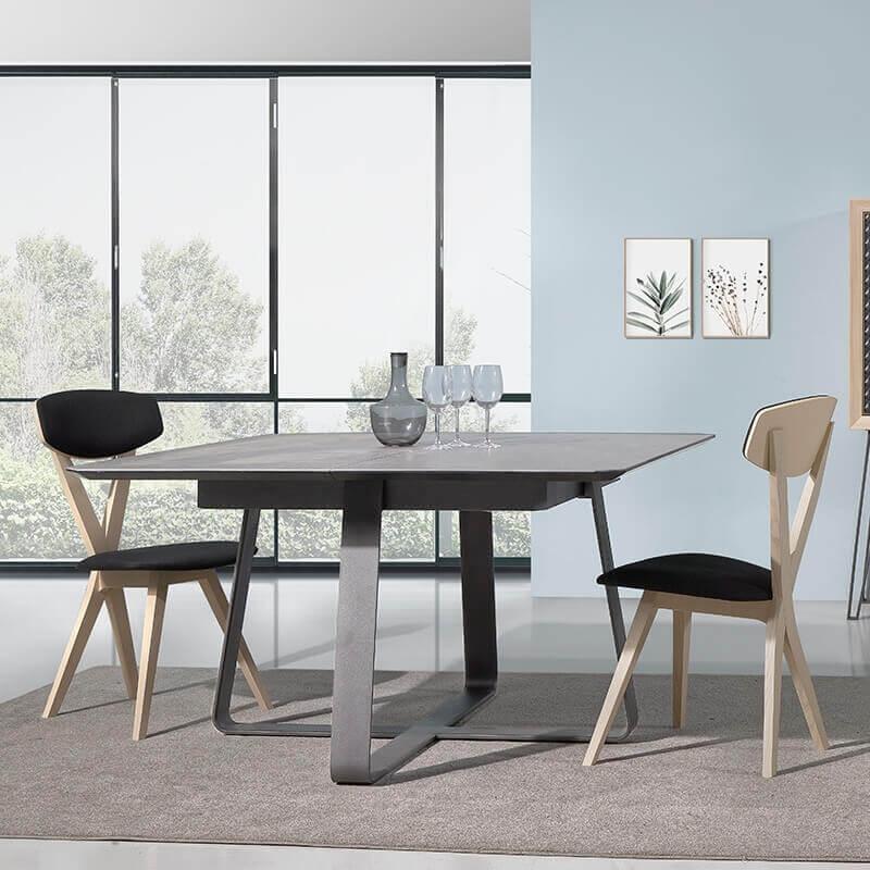 table carree design extensible en ceramique generique