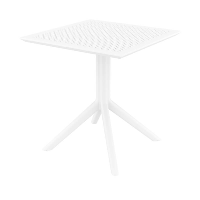 petite table de jardin carree en resine sky
