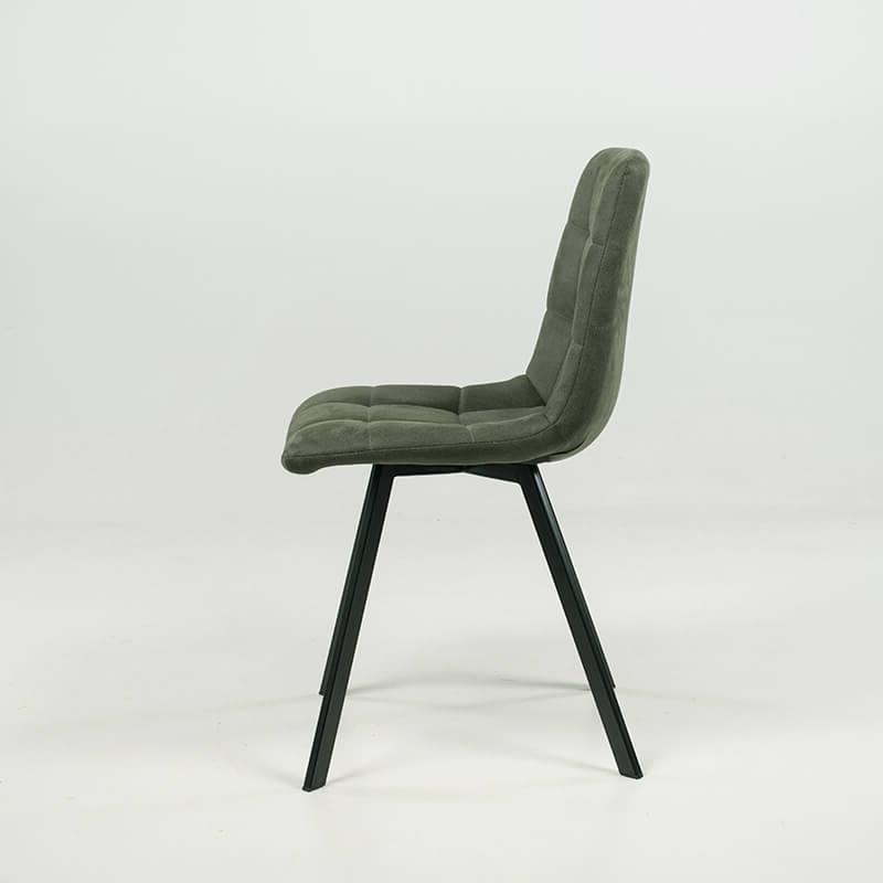 chaise moderne matelassee en tissu avec pied en metal carvi