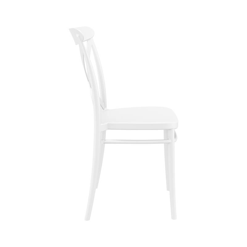 chaise de cuisine style bistrot empilable en polypropylene cross