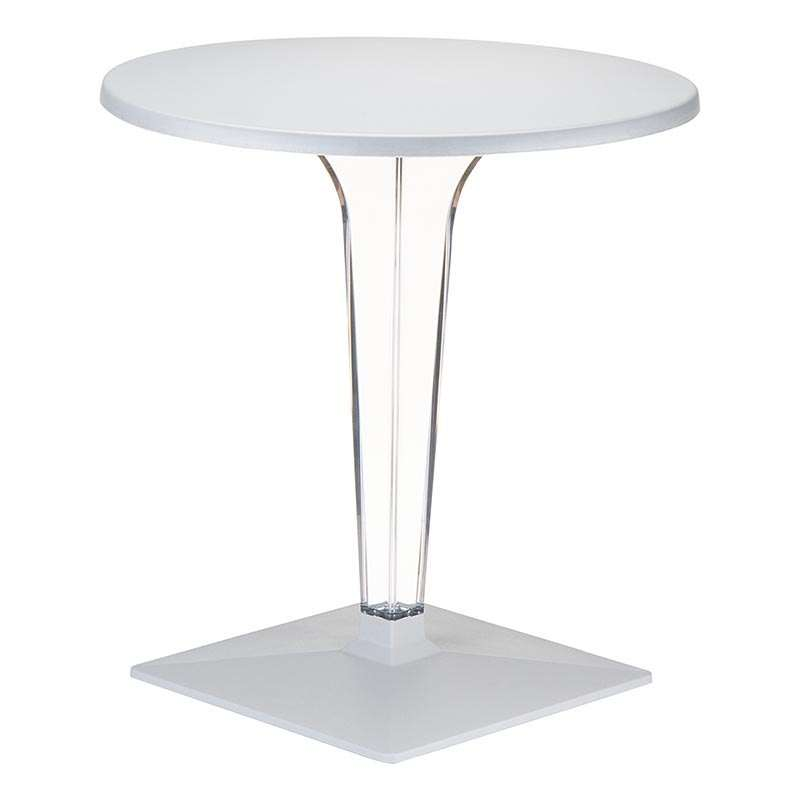 pied de table en polycarbonate transparent ice