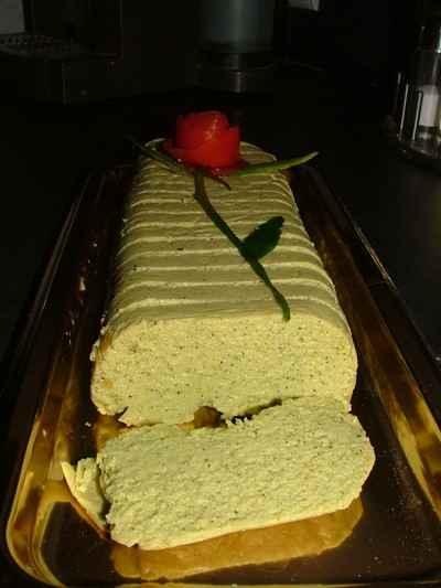 terrine de courgettes au fromage de chevre et thon