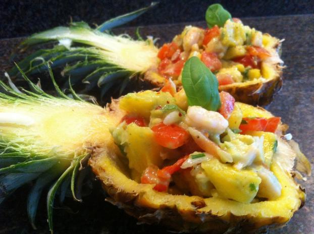 Recette Ssalade Crabe Crevette Et Ananas 750g