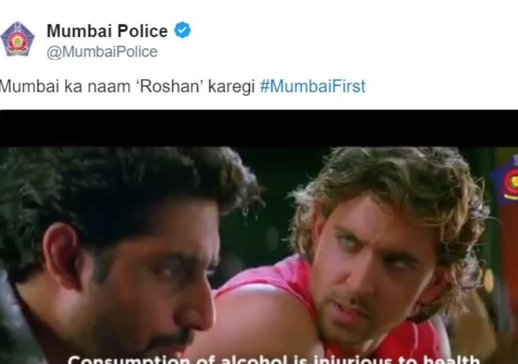 Mumbai Police has a savage reply to Hrithik Roshan famous dialogue from Dhoom 2 on twitter