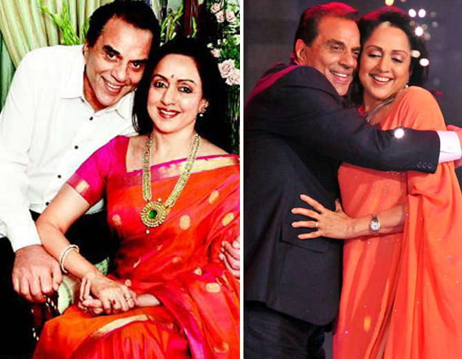 Happy Valentine's Day 2020: In between shots, Dharmendra proposes to Hema Malini, changes his religion to marry Dream Girl and becomes 'Dilawar Khan'.