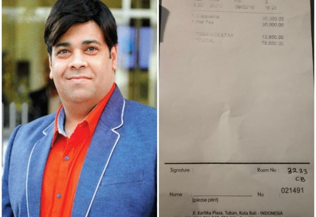 kiku Sharda pays 78,650 rupees bill for a tea and a coffee in hotel during his foreign vacation