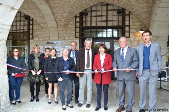 Inauguration avec élus et institutions partenaires. © Marie-Françoise Plagès