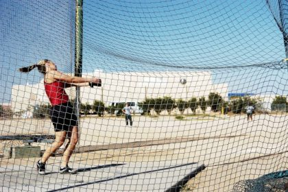 Hammer throw: at 17 he's within the prime 16 of one of the best French cadets