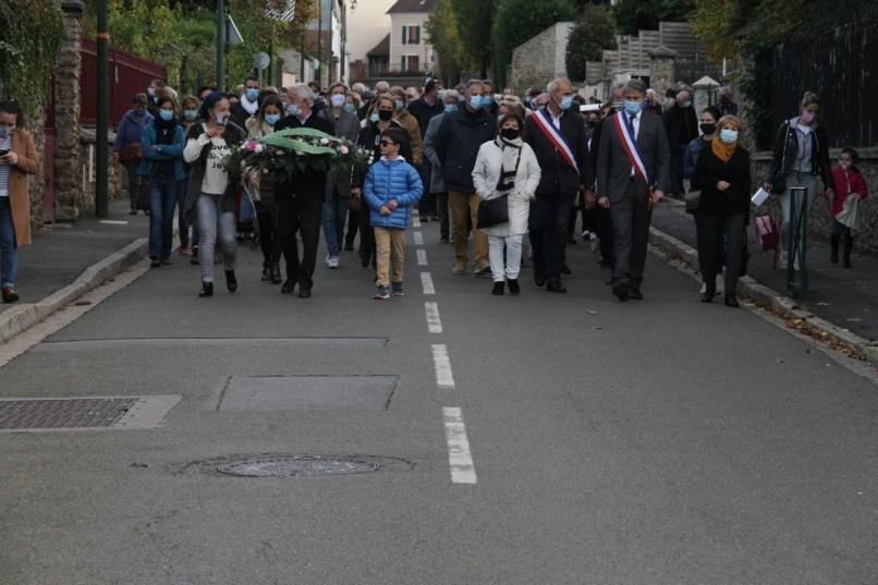 Le maire et les élus du conseil municipal d'Orgeval ont conduit le cortège