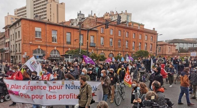 Le cortège est parti de la place Saint-Cyprien, à Toulouse