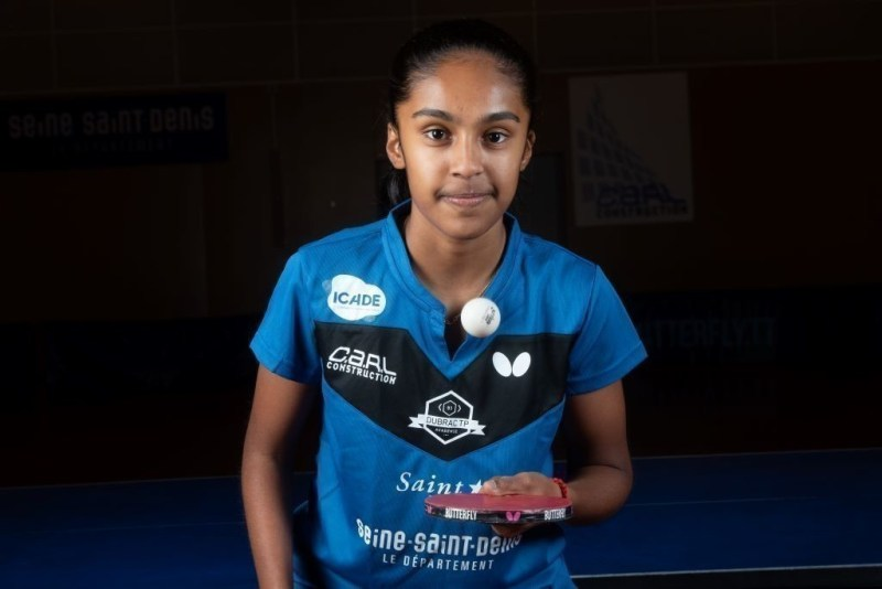 Prithika Pavade, 16, who plays in Saint-Denis US table tennis (Seine-Saint-Denis) has qualified for the Tokyo 2021 Olympic Games.