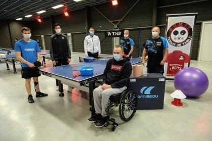 Handisport.  Motion day at Boos desk tennis membership, close Rouen