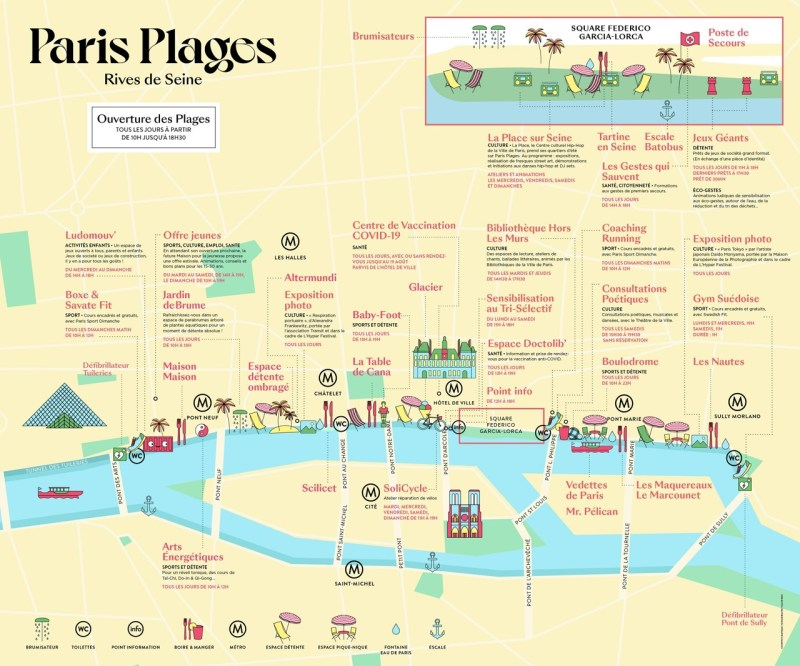 Les animations prévues sur les Rives de Seine.