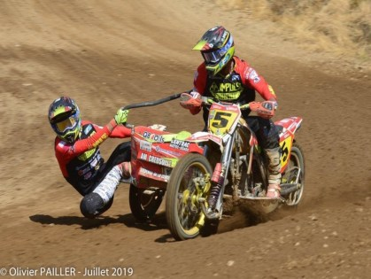 Sidecar Cross in Brou.  A French championship that appears like a World Cup