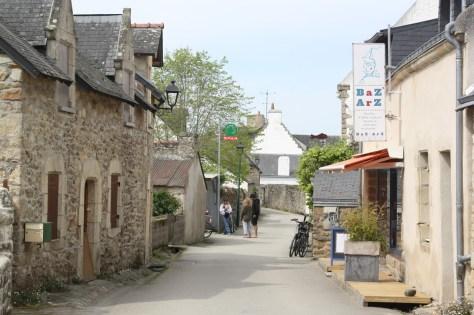 Le bourg de l'île d'Arz.