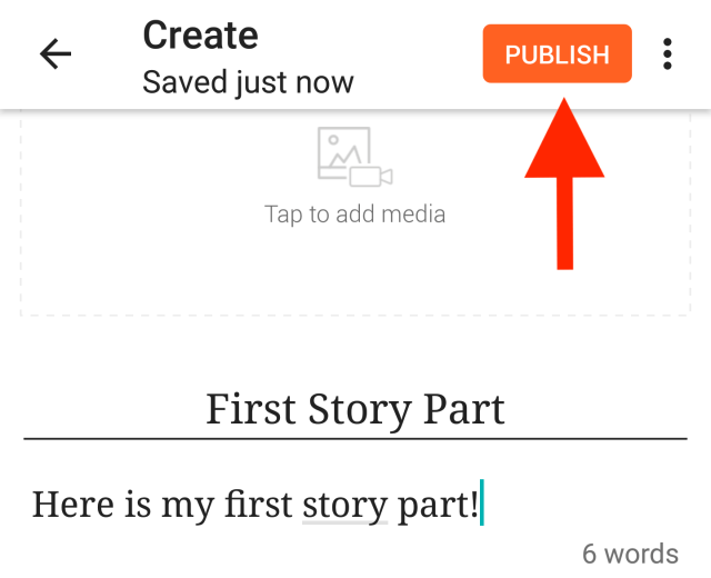 Publishing a story part – Help Center