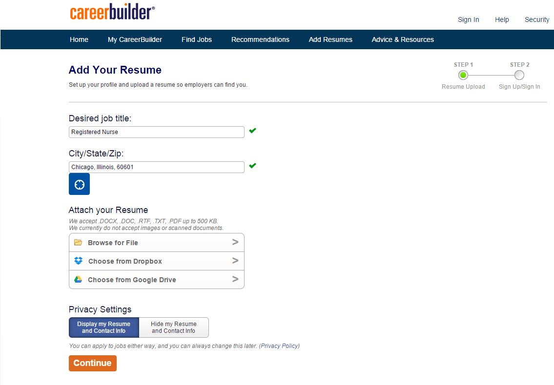 Post your registered nurse resume to find jobs