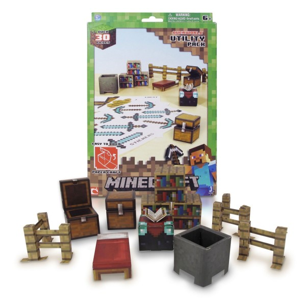 Kit Construction Papier Minecraft Kit De Survie Jeux