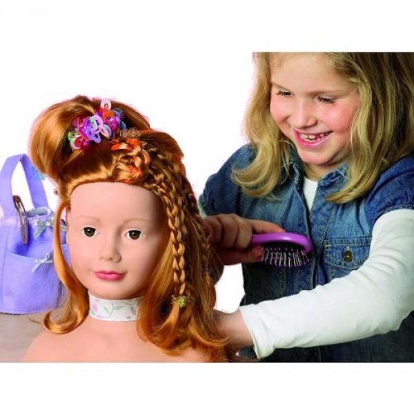 tete a coiffer et a maquiller cheveux roux