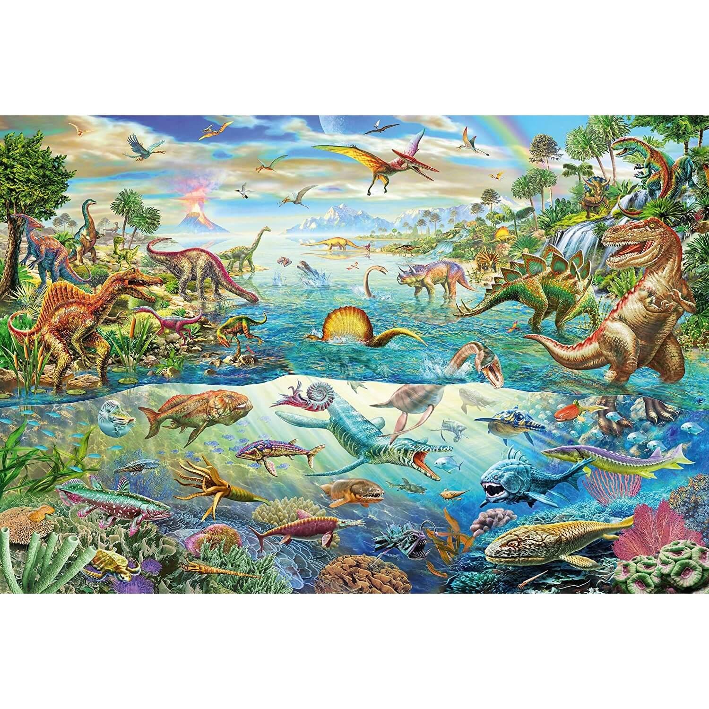 puzzle 200 pieces decouvre les dinosaures