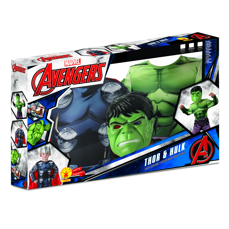 coffret bi pack deguisement thor et hulk enfant