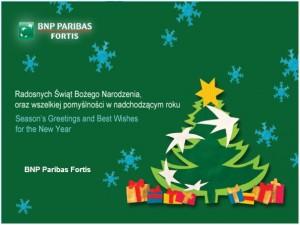 Życzenia - BNP Paribas Fortis