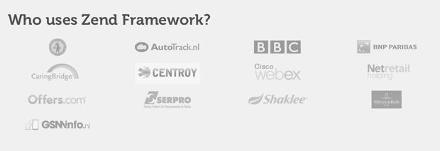Who use Zend Framework?