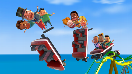Roller Game Coaster 3d Rush