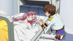 O casal enamorado se despede no leito de morte dela