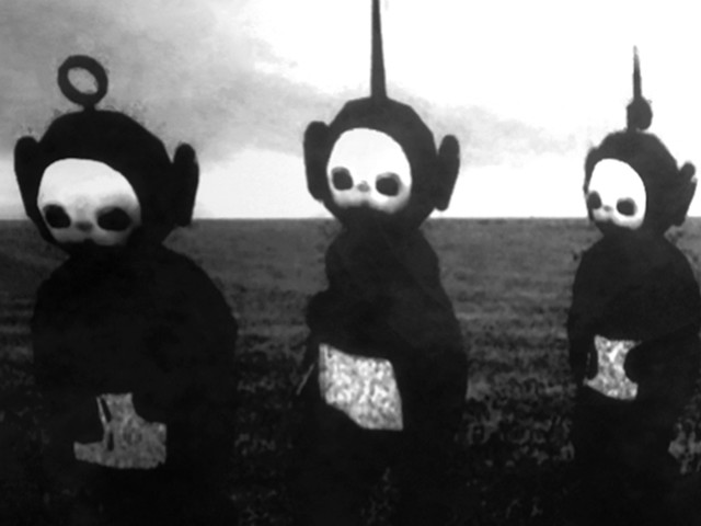 Teletubbies In Black Amp White Look Like A Horror Show