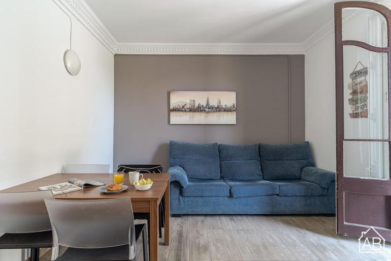 AB Marina Apartment 1-1 - Apartamento moderno de 3 dormitorios con terraza comunitaria cerca de La Sagrada Família  - AB Apartment Barcelona