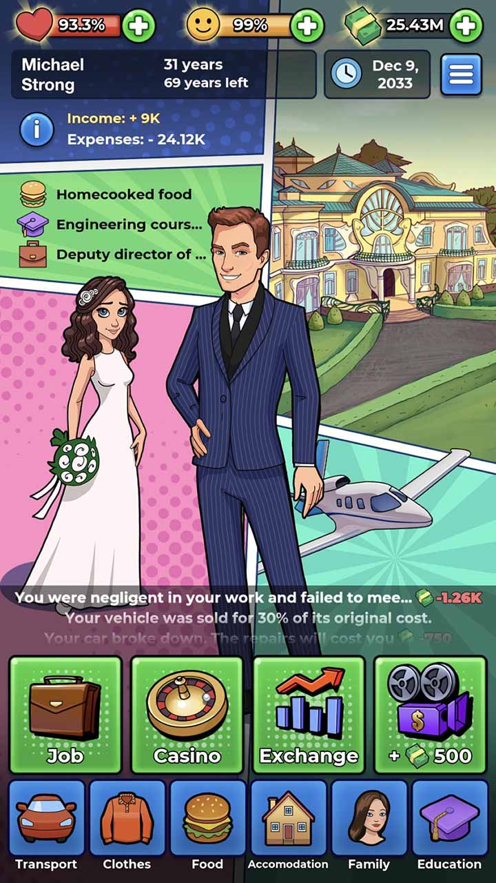 My Success Story Business Game Screen 4