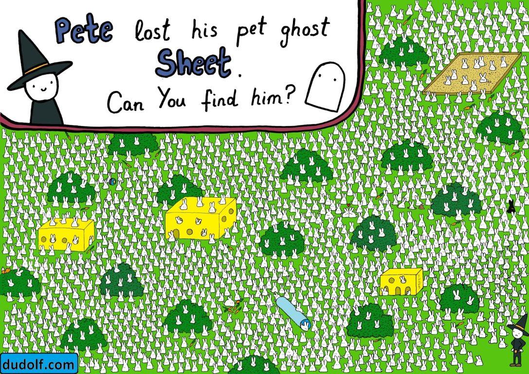 Знайди привид: карикатурист підірвав мережі малюнком-головоломкою, АБЗАЦ