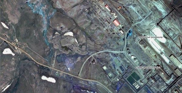 Экологическая катастрофа в Норильске - фото с космоса ...