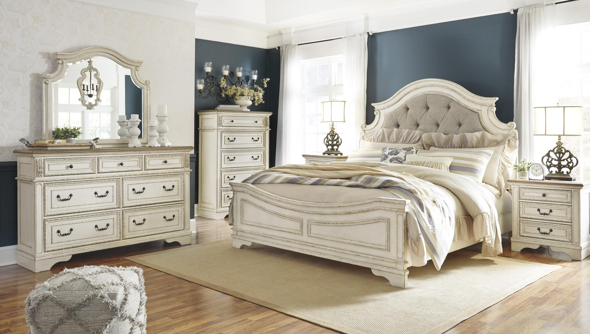Signature Design By Ashley Realyn 5 Piece King Size Bedroom Set