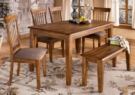 The D19925 Berringer rectangular table comes in a rich hickory satin finish. The Signature Design by Ashley reflects back to the days when beautifully crafted furniture was made by hand to enhance the look of your home. The rich rustic look of the ha...
