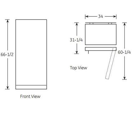 Ge Fuf17dhrww 34 Inch Upright Freezer With 16 6 Cu Ft