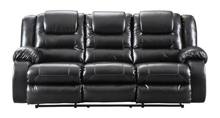 The Vacherie reclining sofa embodies a simple and functional design. Fabulous faux leather upholstery makes luxe living remarkably affordable. Featuring pillow top armrests. waterfall channel cushioning and manual reclining. lie back and enjoy sittin...