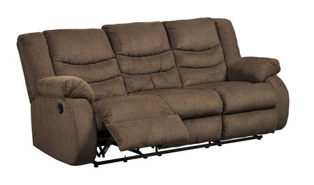 The Tulen reclining sofa features a waterfall back design and doubly plump pillow top arms for the ultimate comfort. Combined with soft chenille fabric and ample seating room - the comfort possibilities are endless. Sit back and relax. You wont go wr...