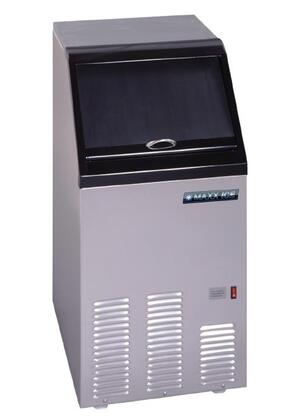 This 17 ice maker produces up to 95 pounds of ice per day and includes a self-contained 25 pound storage bin The stainless steel construction provides durability to the unit that is low-maintenance and easy to clean This ice maker produces crystal cl...