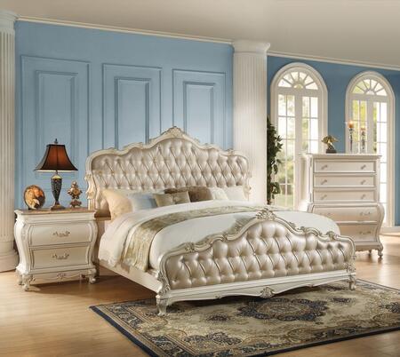 acme furniture chantelle 3 piece king size bedroom set