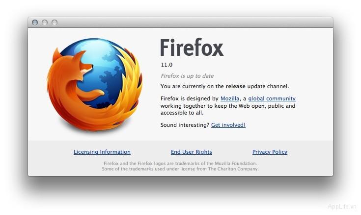 Tải về FireFox 11 bản chính thức