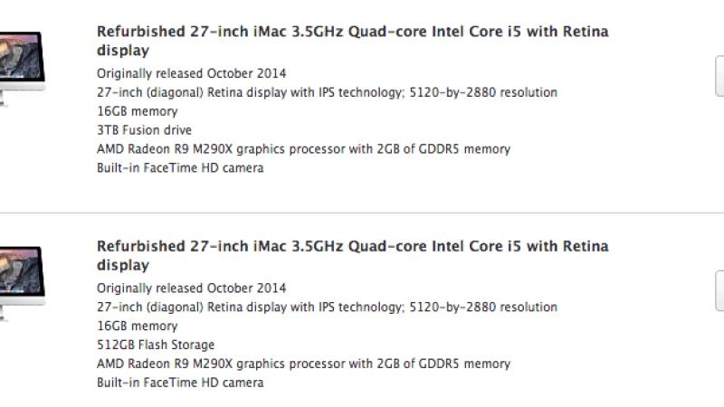iMac 5 K refurbish trên Apple Online Store