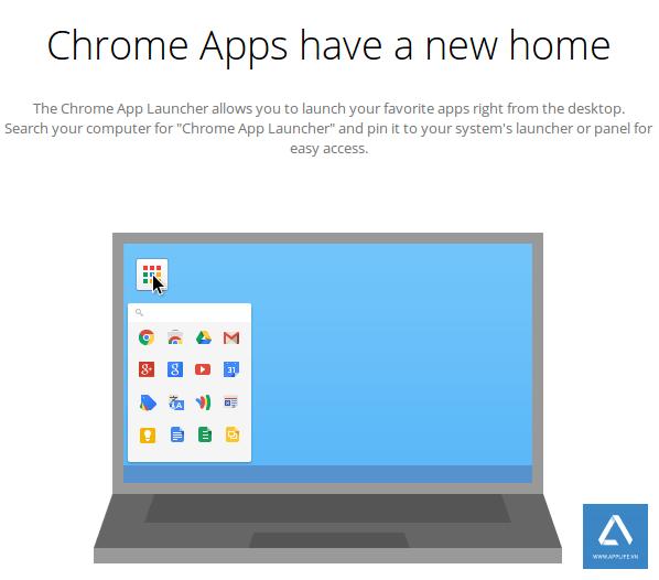 Google bỏ Chrome app launcher trên Windows/Mac
