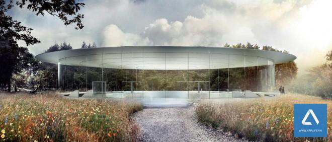 Thiết kế của phòng họp cho nhân viên và tổ chức các sự kiện của Apple - Ảnh: Wired