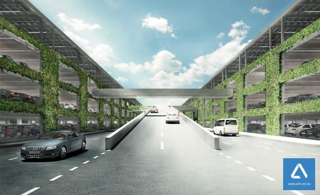 Bãi đậu xe trên mặt đất - Ảnh: Wired