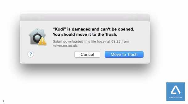 "Bật Anywhere tránh bị ""Move To Trash"" trên macOS Sierra khi gặp 'is damaged and can't be opened'"